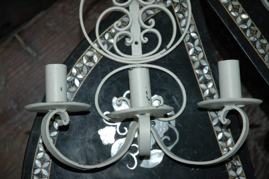 2 vintage Mexican wall sconces - 3