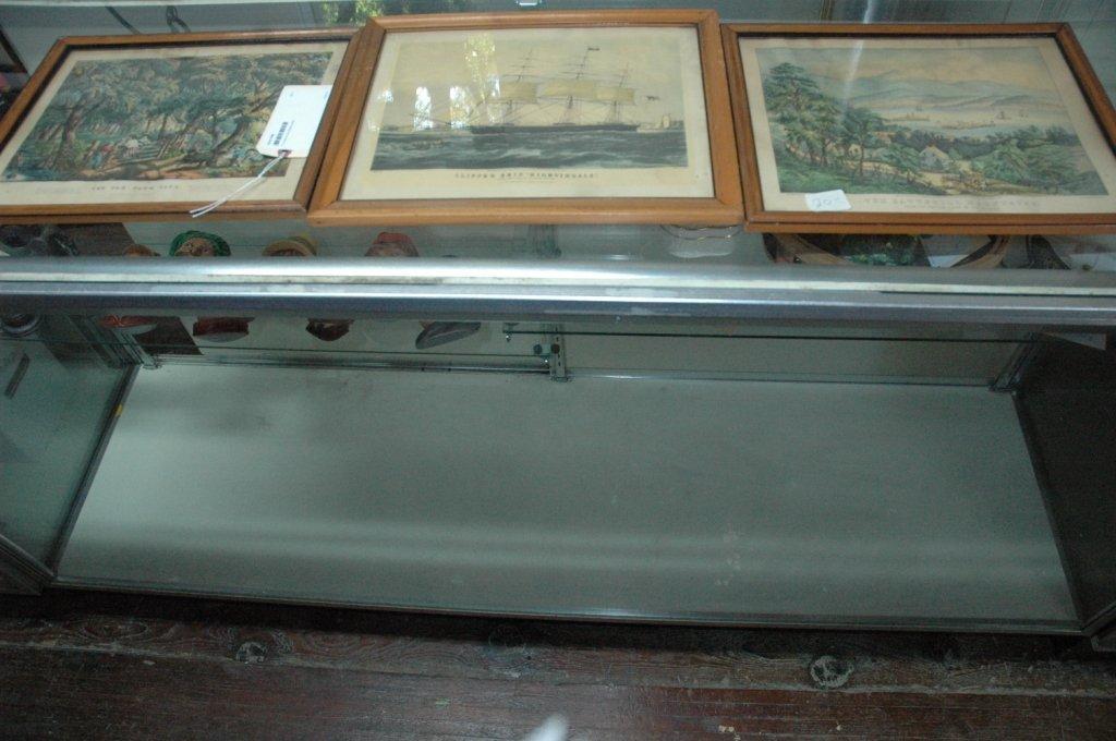 3 Currier & Ives framed prints