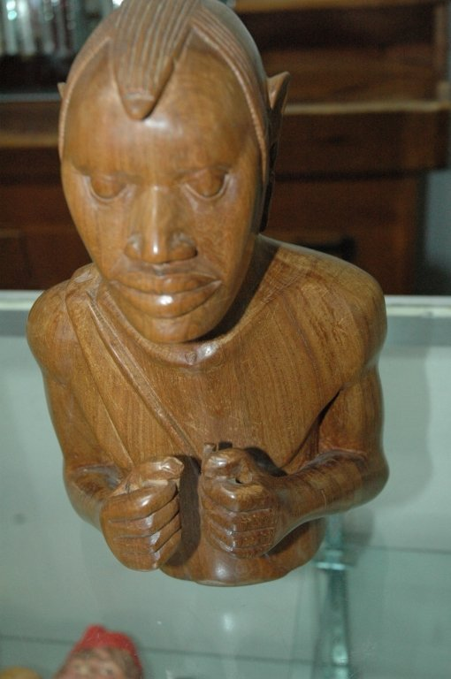 hand carved tribal statue