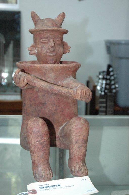 Mayan guardian statue