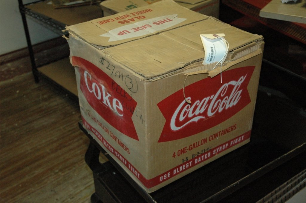 4 - 1 gallon Glass Coca Cola fountain syrup