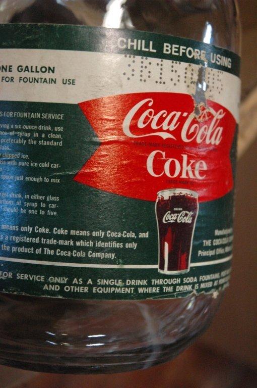 4 - 1 gallon Glass Coca Cola fountain syrup - 3