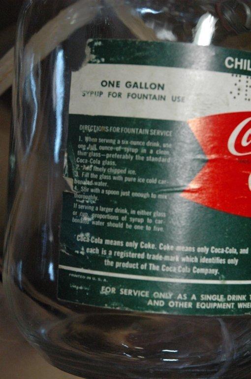4 - 1 gallon Glass Coca Cola fountain syrup - 4