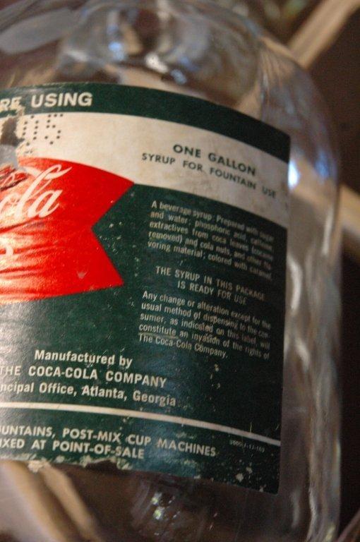 4 - 1 gallon Glass Coca Cola fountain syrup - 5