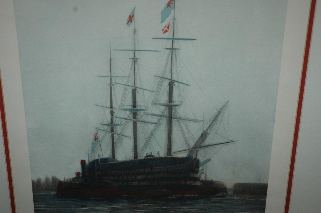 LAST JOURNEY OF HMS VICTORY 1922 W L WYLLIE FRAMED