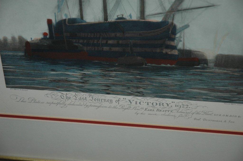 LAST JOURNEY OF HMS VICTORY 1922 W L WYLLIE FRAMED - 2