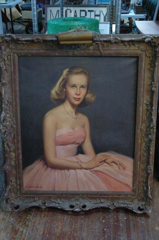 Louise Altson oil on canvas portrait