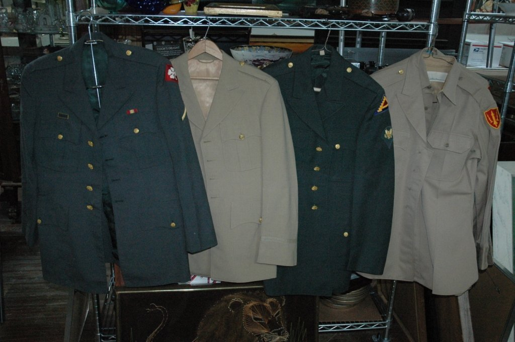 Lot of 5 West point uniforms