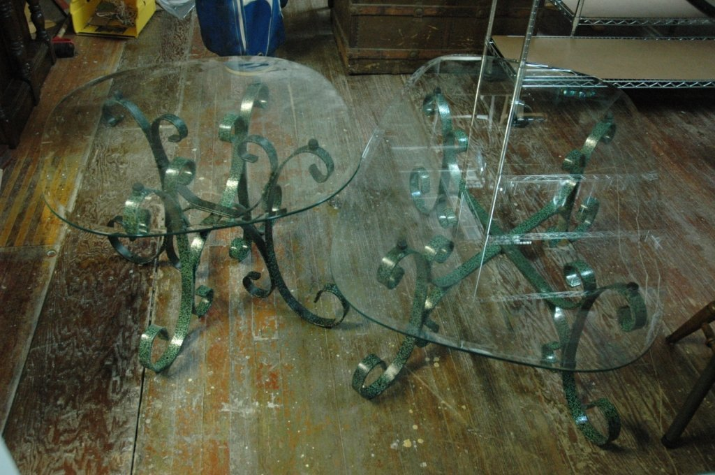 Wrought Iron Coffee Table and end tables