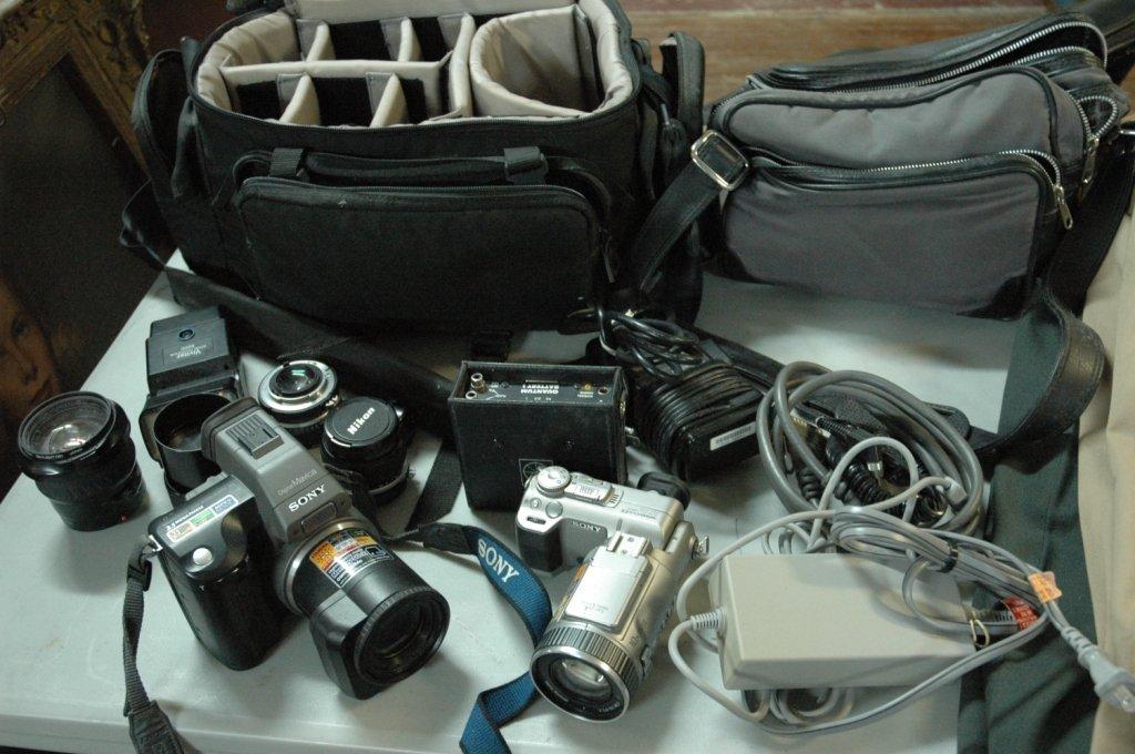 10 piece Sony, Nikon Camera lot