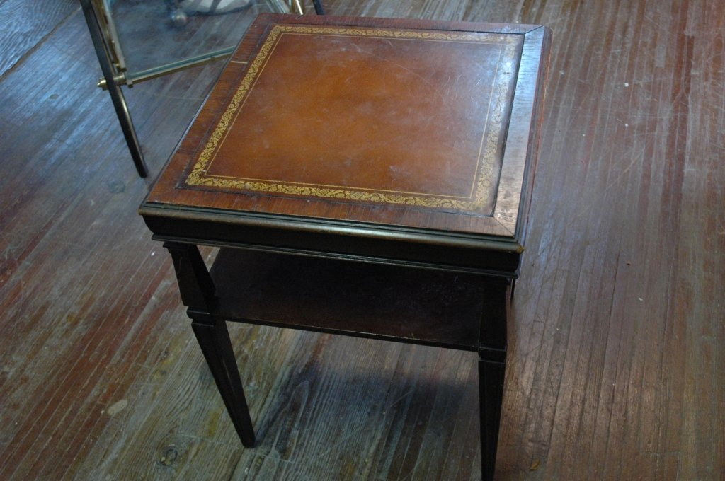 Antique Leather top end table
