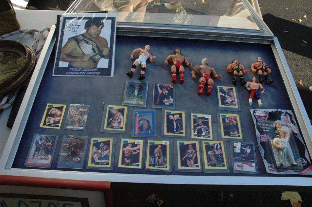 Collection of wrestling autographs and more