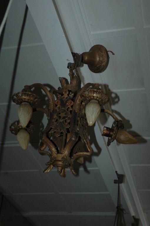 antique bronze chandler