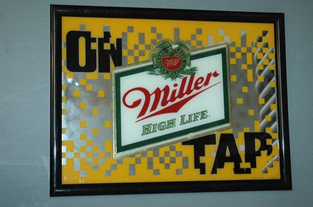 #On Tap #Miller High Life #mirror advertisement