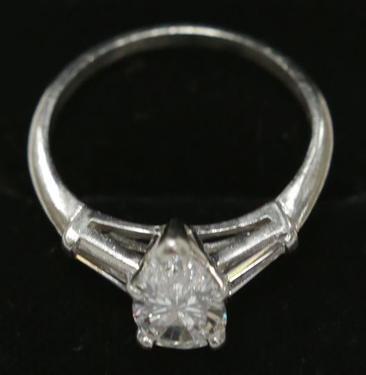 Platinum 1.55ct VS Quality E-F Color Diamond Engagement - 3