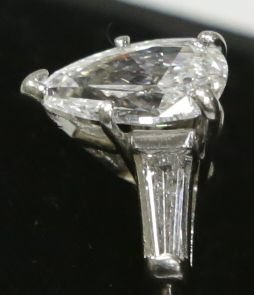Platinum 1.55ct VS Quality E-F Color Diamond Engagement - 4