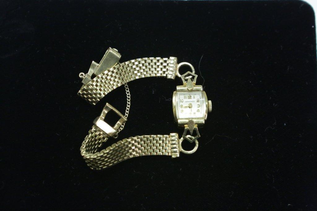 A Ladies 14K Yellow Gold Wristwatch & Band