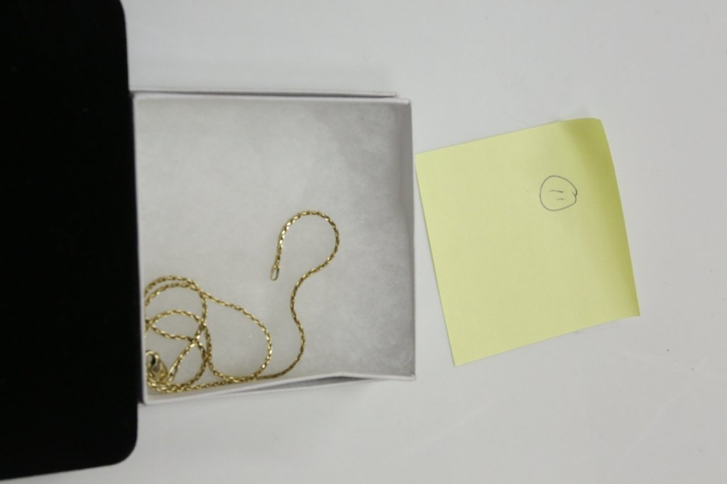 """A 14K Gold Rope Chain, 16.5"""" overall"""