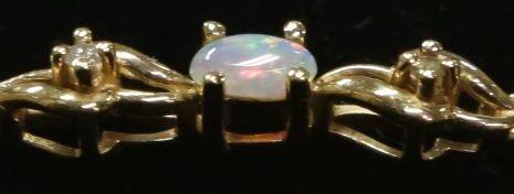 14K gold & opal bracelet