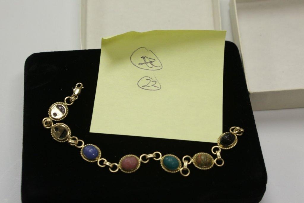 """A 14K Yellow Gold Scarab Bracelet """"Carla"""""""