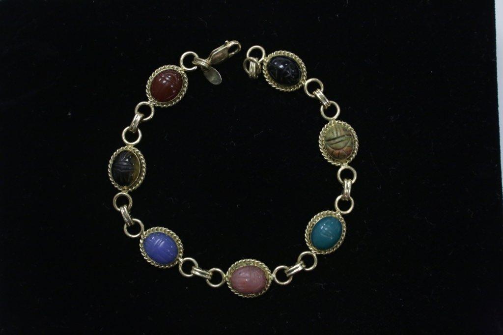 """A 14K Yellow Gold Scarab Bracelet """"Carla"""" - 2"""