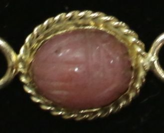 """A 14K Yellow Gold Scarab Bracelet """"Carla"""" - 5"""