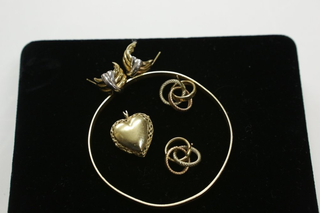 14K gold jewelry lot