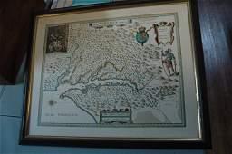 Map Nova Virginia Tabula 17th century