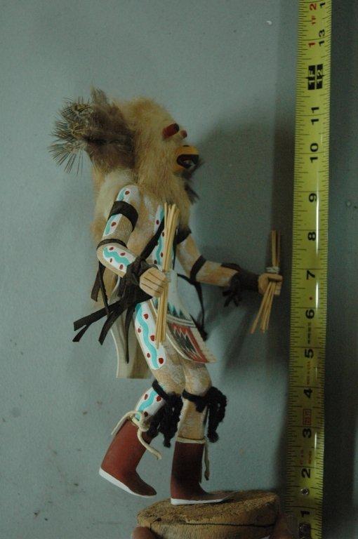 """Kachina doll """"Owl"""" signed - 3"""