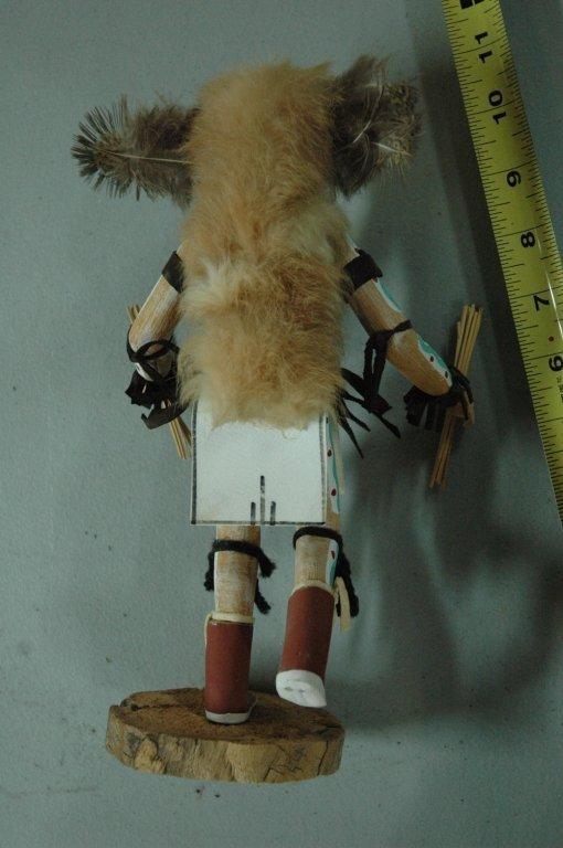 """Kachina doll """"Owl"""" signed - 4"""