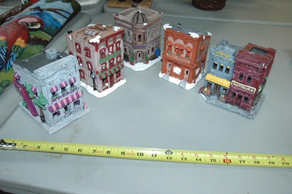 5 Piece Christmas village