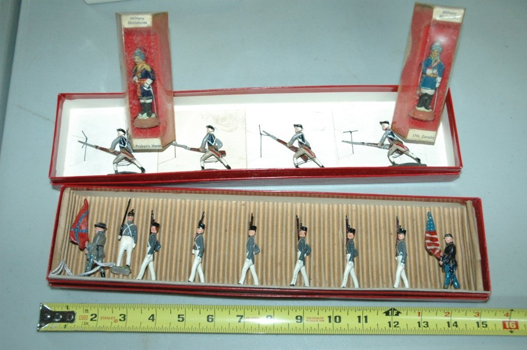 15 hand painted mini cast soldiers