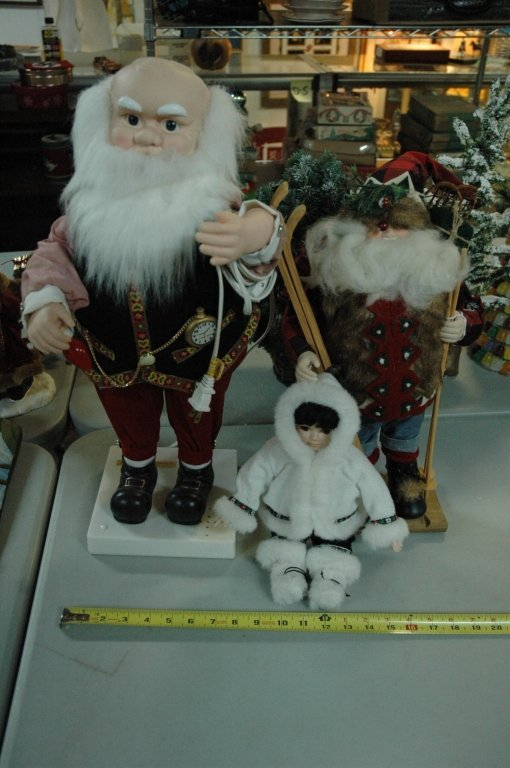 "3 Piece ""Large"" Santa Clause lot"