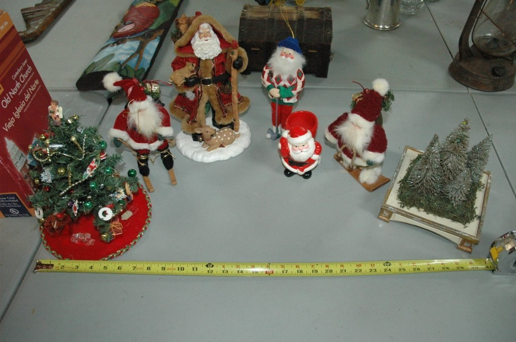 7 piece Misc Santa Clause / Christmas Lot