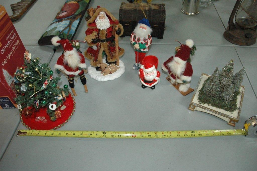 7 piece Misc Santa Clause / Christmas Lot