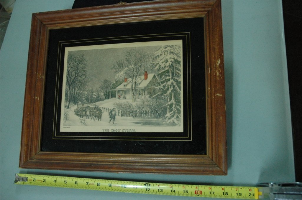 Currier & Ives Hand Colored Lithograph