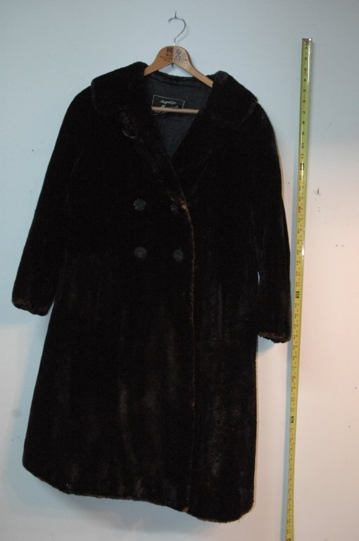 one seal mid length fur coat