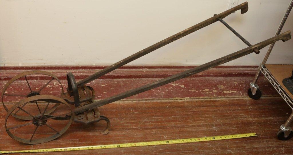 Antique Vintage Hand Plow Cultivator Tiller