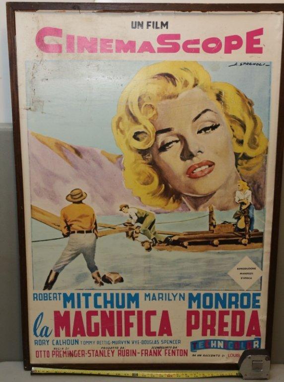 "Marilyn Monroe in "" Magnifica Preda "" repro poster"