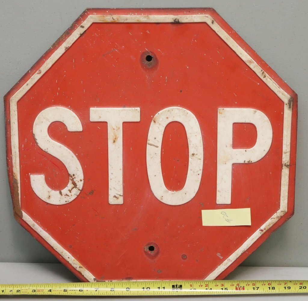 Raised Letter Stop Sign