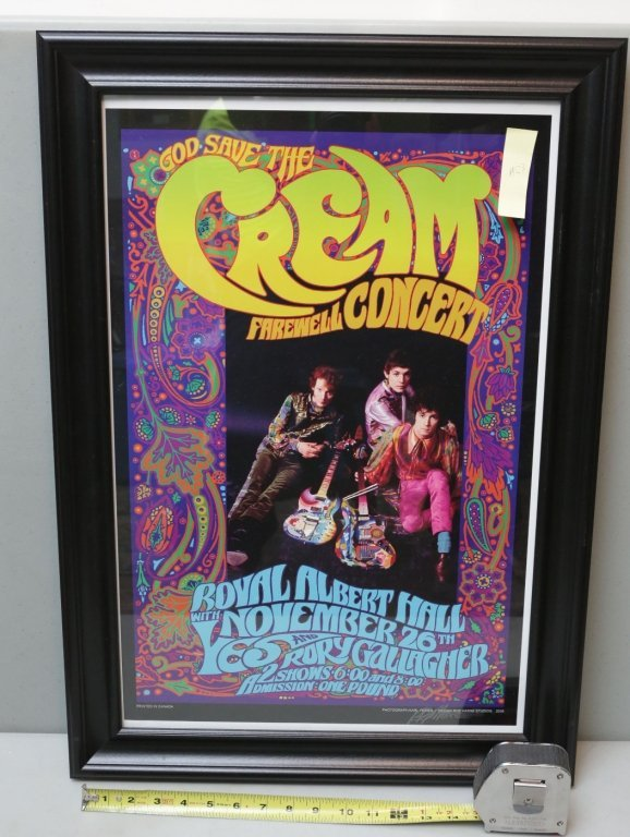Cream Concert poster Signed by Bob Masse