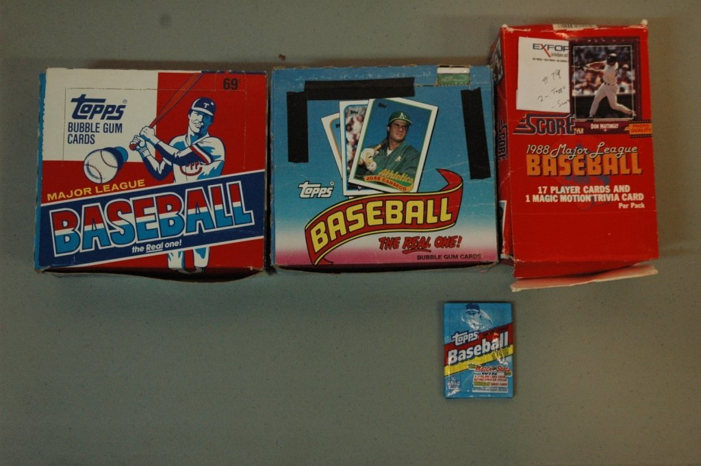 1988 & 1989  Topps and 1988 Score MLB cards