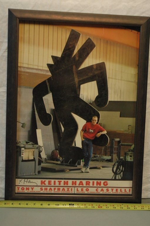 Keith Haring Exhibition Poster SIGNED