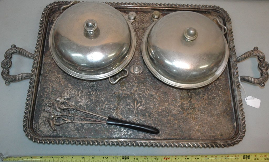 Silver Plate lot with tray and more