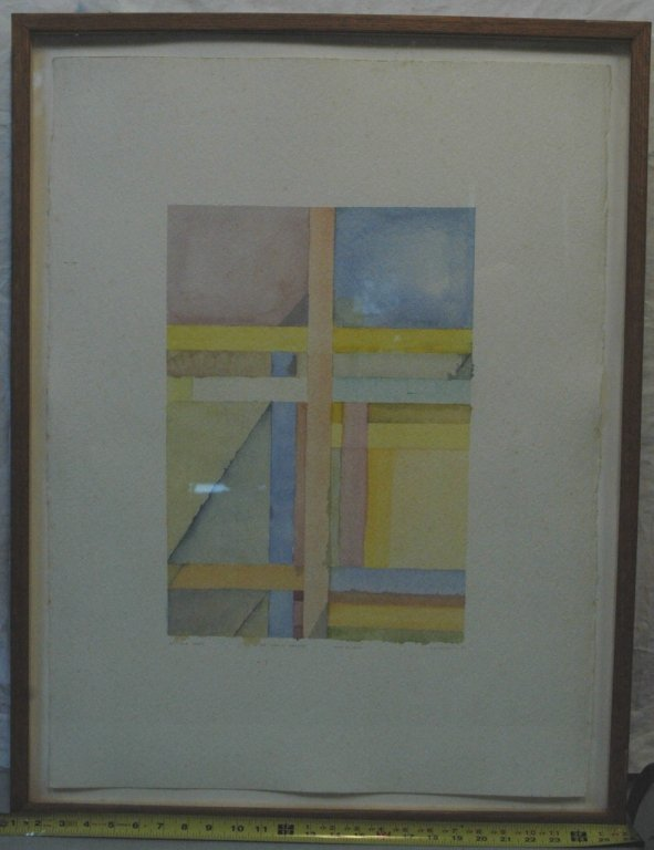 A. K. Phillips Abstract  Watercolor, 1987