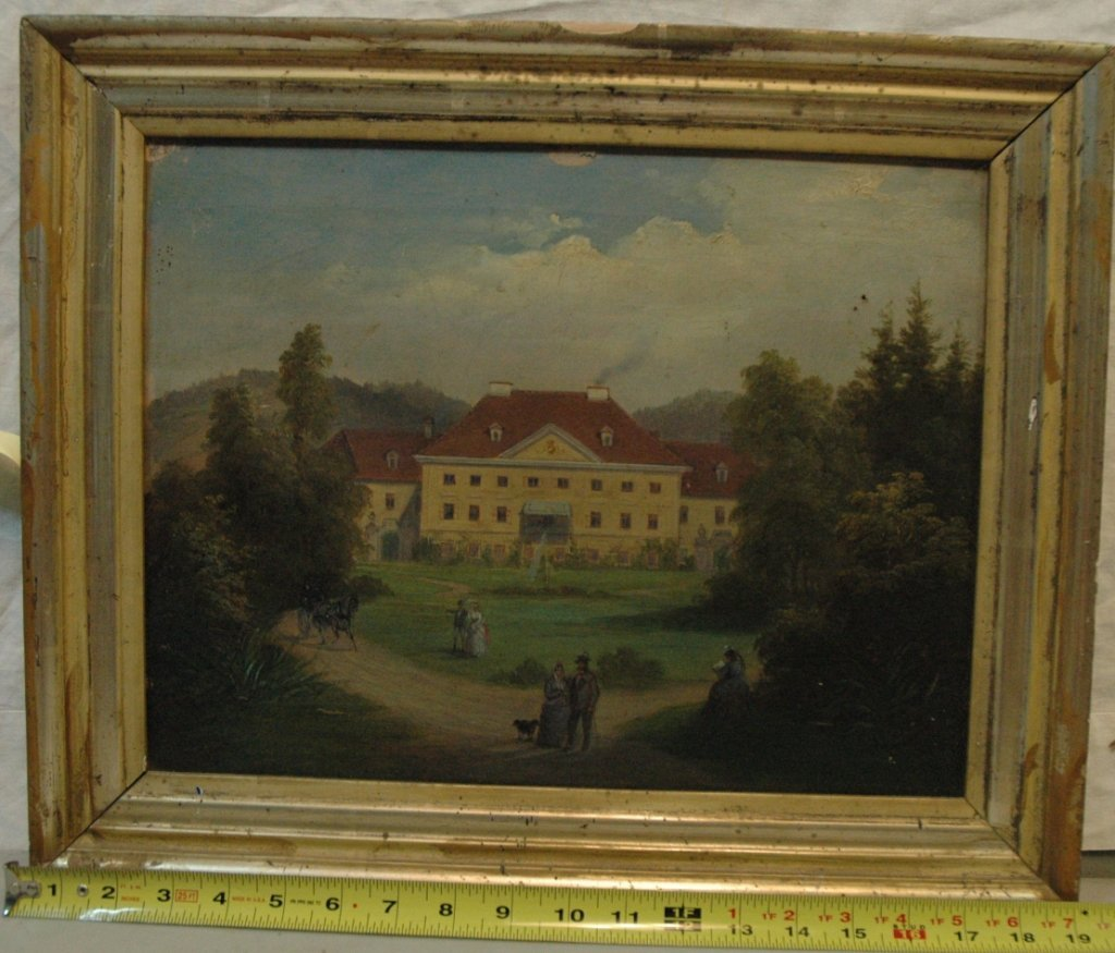 19th C. Academic Oil on canvas painting