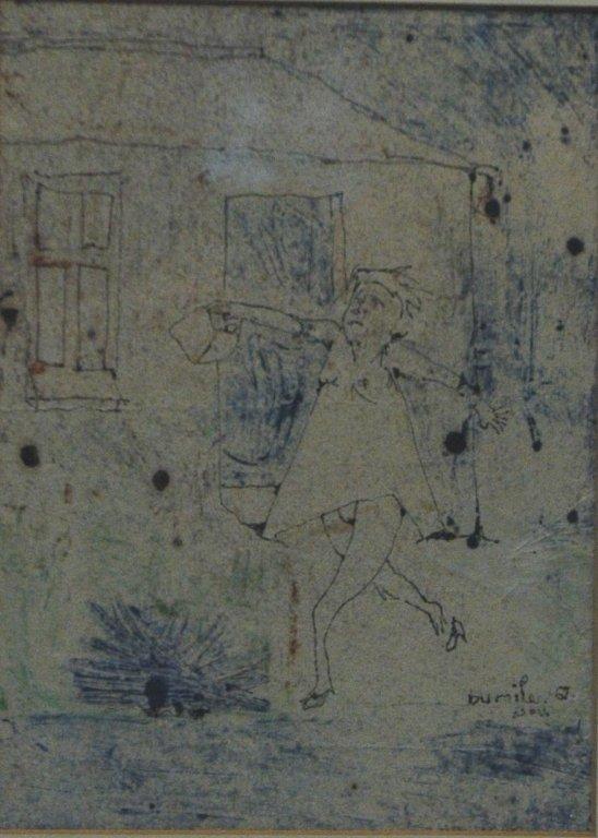 Drawing by Dumile (Dumile Feni Mhlaba? 1942-1991)