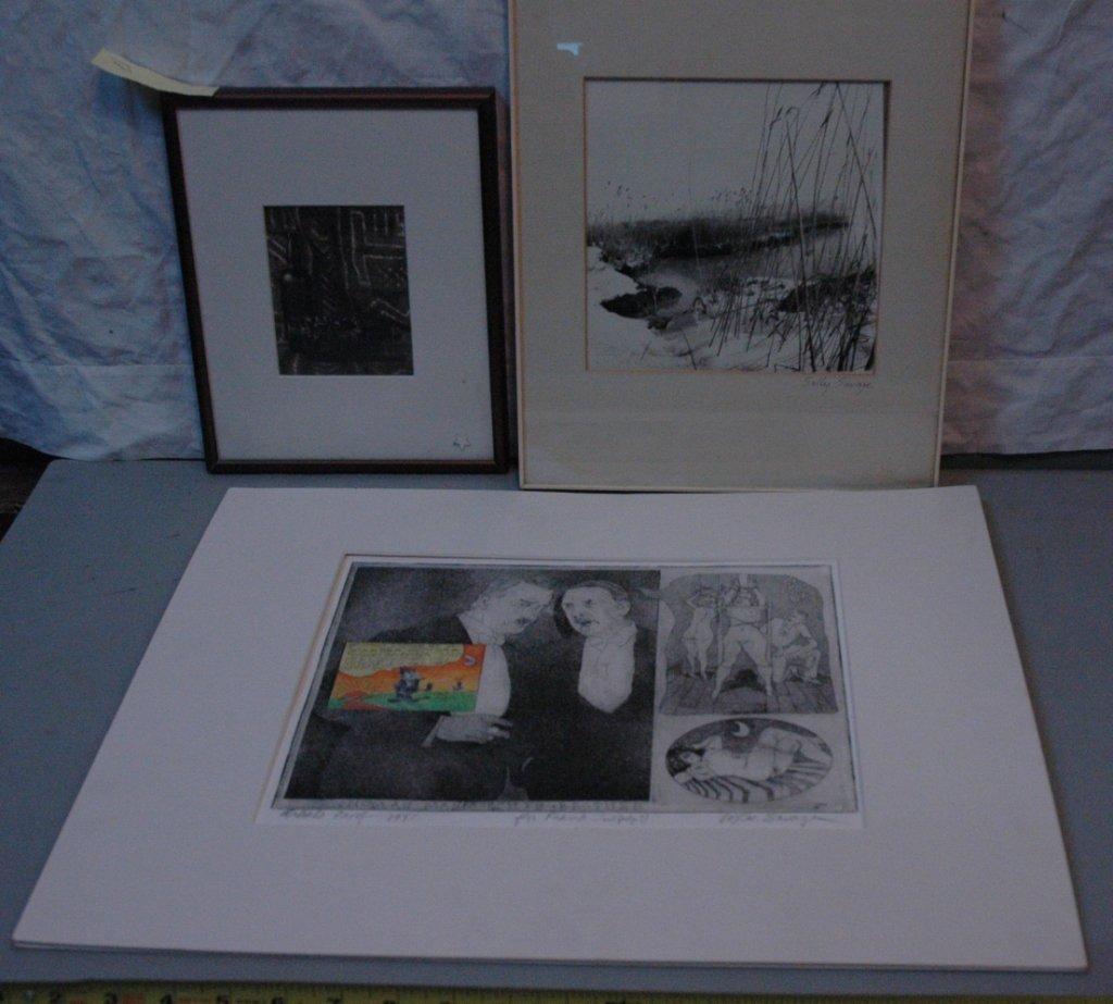Lee Savage, Sally Savage, Art Lot.  (3 pcs)