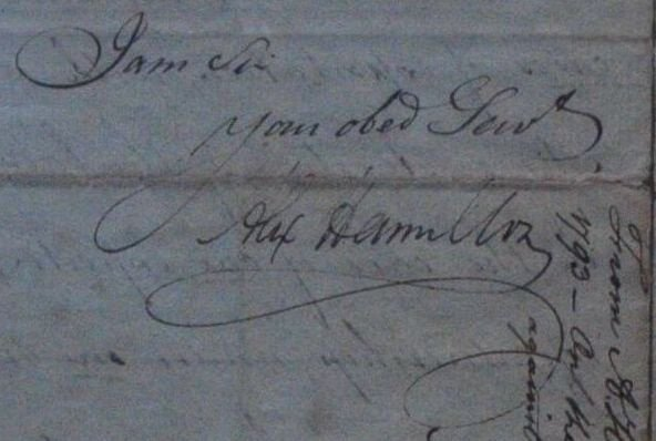 Alexander Hamilton ALS Dated Apr 2 1793