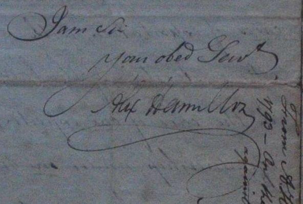 Alexander Hamilton ALS Dated Apr 2 1793